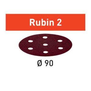 Festool schuurpapier Rubin STF D90_6 schuurschijf diameter 90 mm Korrel 80