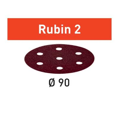 Festool schuurpapier Rubin STF D90_6 schuurschijf diameter 90 mm Korrel 100