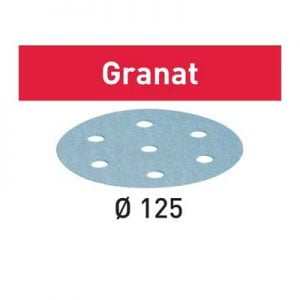 Festool schuurpapier Granat STF D15_9 schuurschijf diameter 125 mm Korrel 80