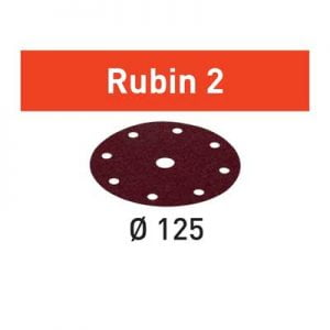 Festool schuurpapier Rubin STF D125_90 schuurschijf diameter 125 mm Korrel 80