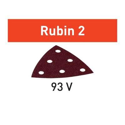 Festool schuurpapier Rubin STF V93_6 schuurdriehoek Korrel 80