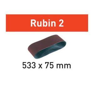 Festool schuurpapier Rubin BS75 533 mm bij 75 mm schuurband Korrel 60