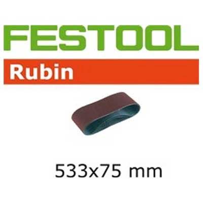 Festool schuurpapier Rubin BS75 533 mm bij 75 mm schuurband Korrel 100