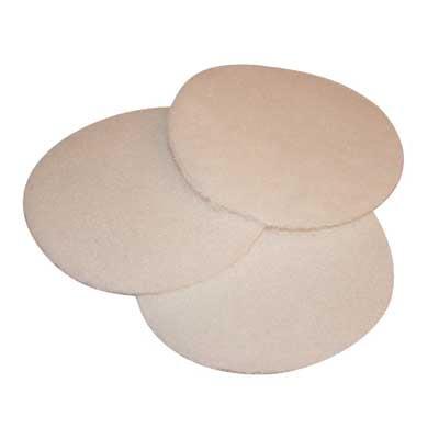Pads Wit klein diameter 130 mm
