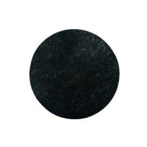 Pads Zwart diameter 16 inch of 406 mm en 1 cm dun