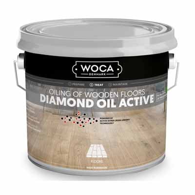 Woca Diamond Oil Active Wit 2,5 liter