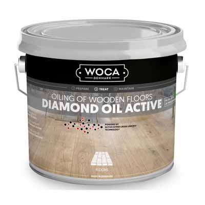 Woca Diamond Oil Active Chocolate Brown 1 liter